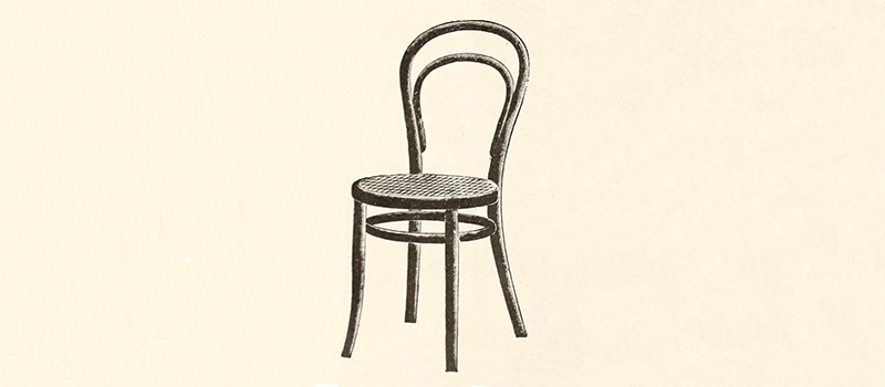 the original no14 chair is made up of six pieces of wood ten screws and two nuts it was the first piece of furniture designed to be shipped in parts to